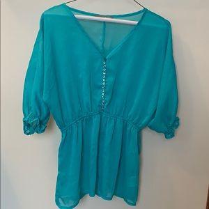 Sheer smart set blouse